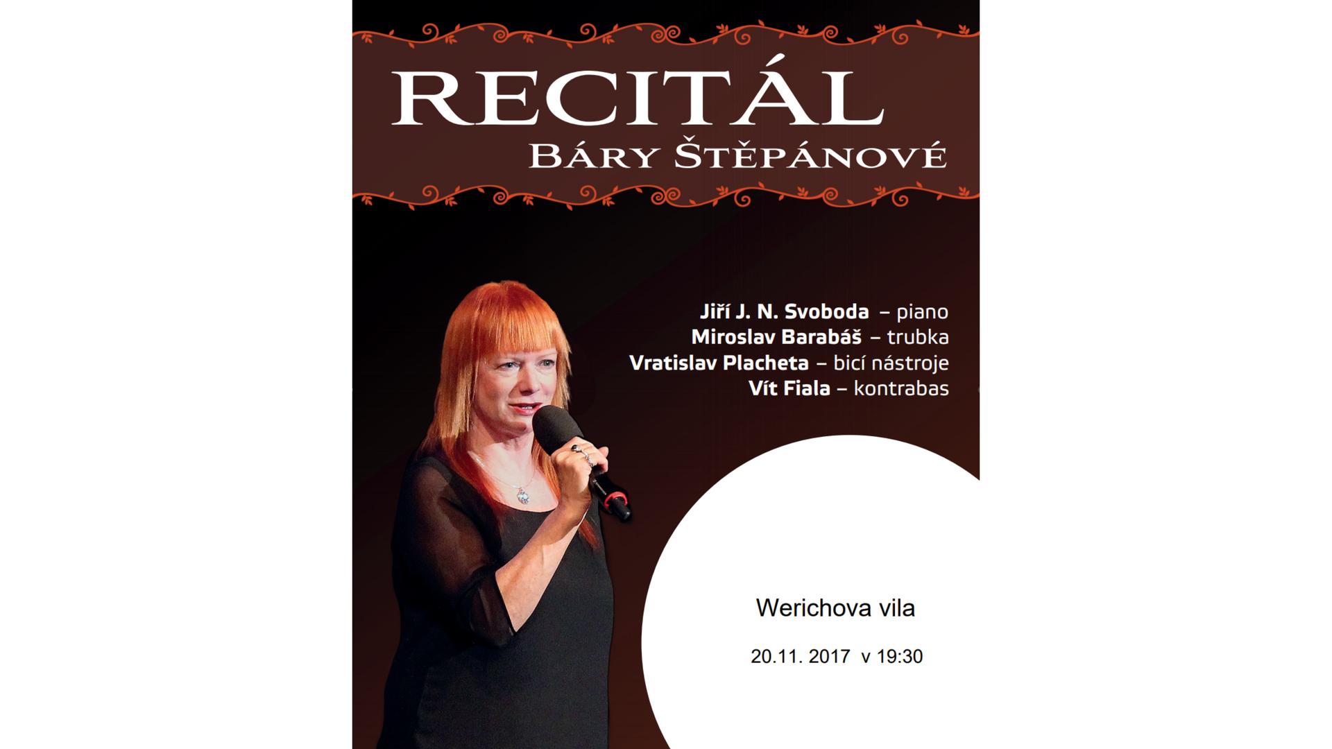 bára štěpánová recital werichova vila kampa